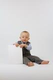 Bebé en juego de asunto fotografía de archivo