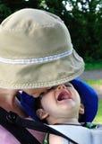 Bebé en la honda Imagen de archivo libre de regalías