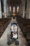 Bebé en la iglesia colegial del St Martha, Tarascon Foto de archivo libre de regalías