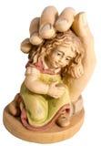 Bebé en la seguridad, protección de dios aislado Imagenes de archivo