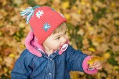 Bebé en parque Imágenes de archivo libres de regalías