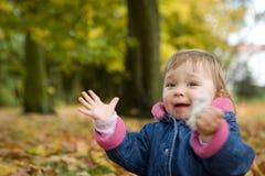 Bebé en parque Fotografía de archivo
