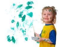 Bebé en pintura Fotos de archivo libres de regalías