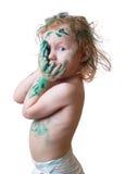 Bebé en pintura Imagen de archivo libre de regalías