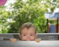 Bebé en rasgones Imágenes de archivo libres de regalías