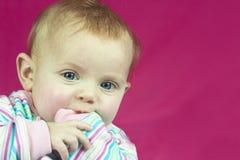 Bebé en rayas Fotografía de archivo libre de regalías
