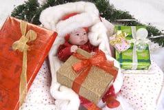 Bebé en rectángulo Fotos de archivo