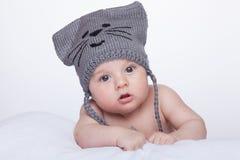 Bebé en sombrero Fotos de archivo libres de regalías