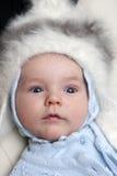 Bebé en sombrero del invierno Imagen de archivo