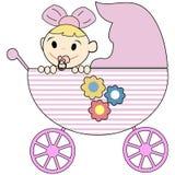 Bebé en stroler Foto de archivo libre de regalías