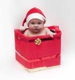 Bebé en tema de Navidad Imagenes de archivo