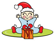 Bebé en tiempo de la Navidad Imágenes de archivo libres de regalías