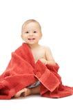 Bebé en toalla Imagen de archivo