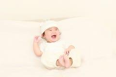Bebé en un buen humor Fotografía de archivo libre de regalías