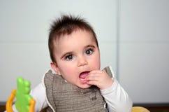 Bebé en un caminante Fotos de archivo libres de regalías