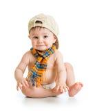 Bebé en un casquillo Imagen de archivo libre de regalías
