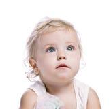 Bebé en un casquillo rojo del Año Nuevo Fotografía de archivo libre de regalías