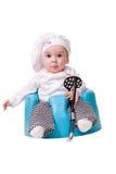 Bebé en un equipo del cocinero Fotos de archivo libres de regalías