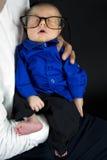 Bebé en vidrios Fotografía de archivo libre de regalías