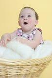 Bebé encantado Fotos de archivo libres de regalías