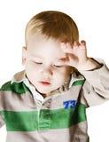 bebé enfermo Fotografía de archivo