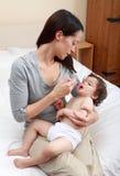 Bebé enfermo Imagen de archivo