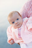 Bebé eyed azul Fotografía de archivo