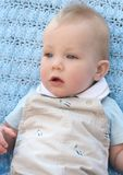 Bebé Eyed azul adorável Fotografia de Stock