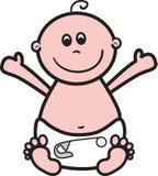 Bebé feliz stock de ilustración