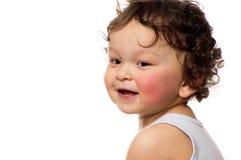 Bebé feliz. Imagen de archivo