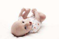 Bebé feliz aislado Foto de archivo libre de regalías