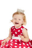 Bebé feliz con la corona Foto de archivo libre de regalías