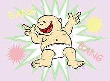 Bebé feliz de la explosión de la explosión Foto de archivo libre de regalías