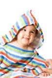 Bebé feliz en colores Imágenes de archivo libres de regalías