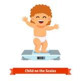 Bebé feliz en la carga del pañal en escalas libre illustration