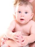 Bebé feliz engraçado Imagem de Stock Royalty Free
