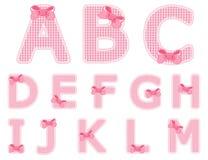 Bebé A fijada alfabeto a M Fotografía de archivo