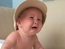 Bebé gritador imagen de archivo libre de regalías