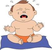 Bebé gritador ilustración del vector