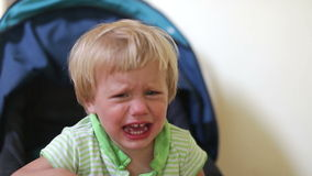 Bebé gritador almacen de metraje de vídeo