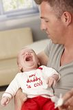 Bebé gritador del primer Fotografía de archivo