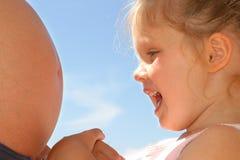 Bebé-hable Fotos de archivo libres de regalías