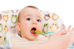Bebé hambriento Imagen de archivo
