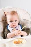 Bebé hambriento Imágenes de archivo libres de regalías