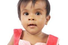 Bebé indio de la niña Foto de archivo
