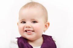 Bebé infantil sonriente Imagen de archivo libre de regalías