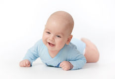 Bebé infantil sonriente feliz Imágenes de archivo libres de regalías