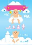 Bebé infographic   Stock de ilustración