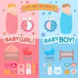 Bebé infographic Imágenes de archivo libres de regalías