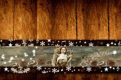 Bebé Jesús de los saludos de la Navidad Imagen de archivo